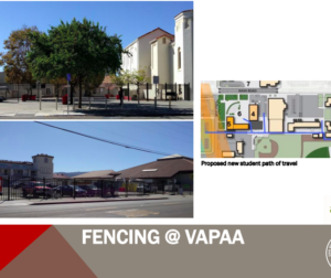 Renditions of conceptual fencing to keep students safe.