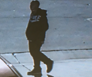 Hollister Police Department says this photo is from a surveillance camera and shows the suspect . HPD photo