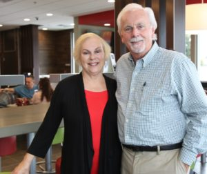 Terry (left) and Gary Carlisle were on hand to great customers visiting the newly renovated McDonald's.