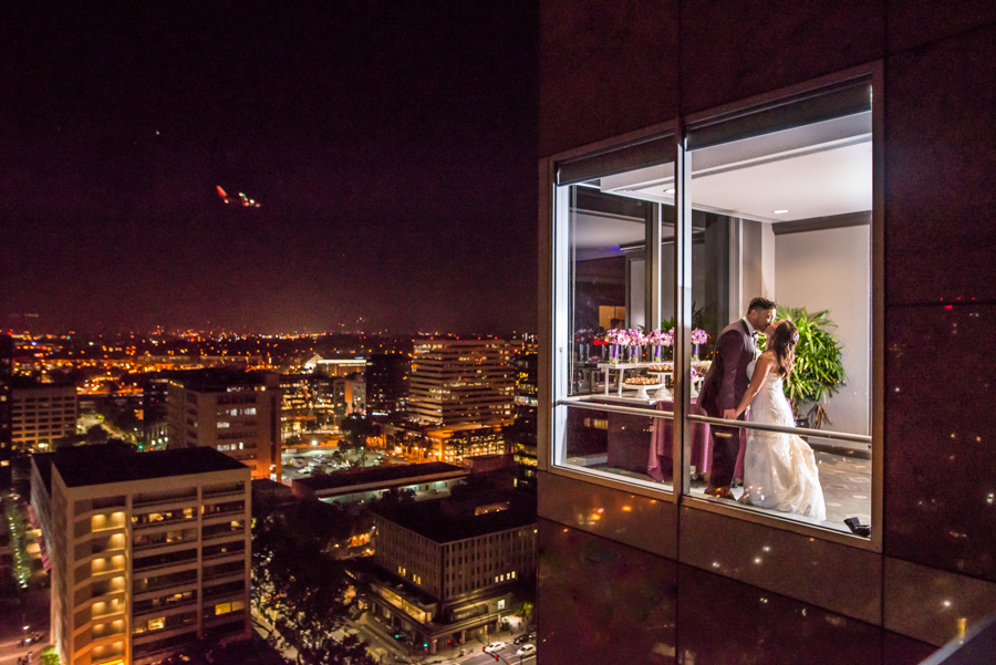 Robinson's photograph with San Jose in the background earned her the #29 spot on The Huffington Post's  top 32 wedding photographs of the year. Photo courtesy of Lisa Robinson.
