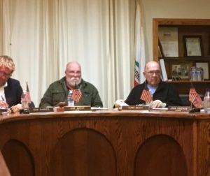 Jim West, second from left, was selected as mayor of San Juan Bautista for 2018 at Tuesday night's City Council meeting. John Freeman, right, will serve as vice mayor.