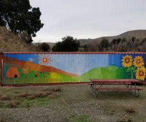 The San Benito County Probation Department and local artist Joel Esqueda gave these children the opportunity to paint murals around the park.