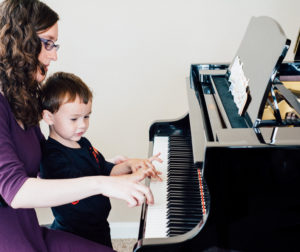 Natalia teaches piano to all ages of students locally and around the Bay Area.   Photo by Michelle West