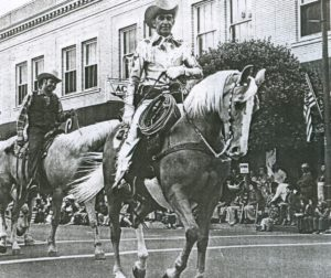 Manuel Silva rides in the lead. Photo courtesy San Benito County Historical Society