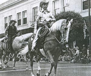 Manuel Silva rides in the lead. Photo courtesy San Benito County Historical Society