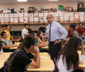 Jimmy Panetta visiting students at San Benito High School. Benitolink file photo