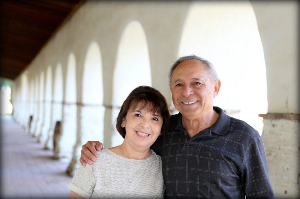 Carmen and Frank Pérez at Mission San Juan Bautista. Photo courtesy of Donna Silva (DLynn Photography).