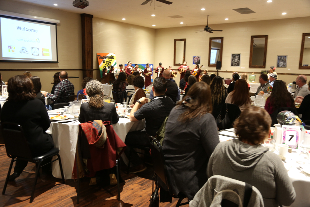 Paine's conference room was full as guests listened to local Mariachi Juvenil performers.