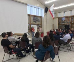 The small group of students had a chance to answer three main questions directly. Photo by Jennifer López