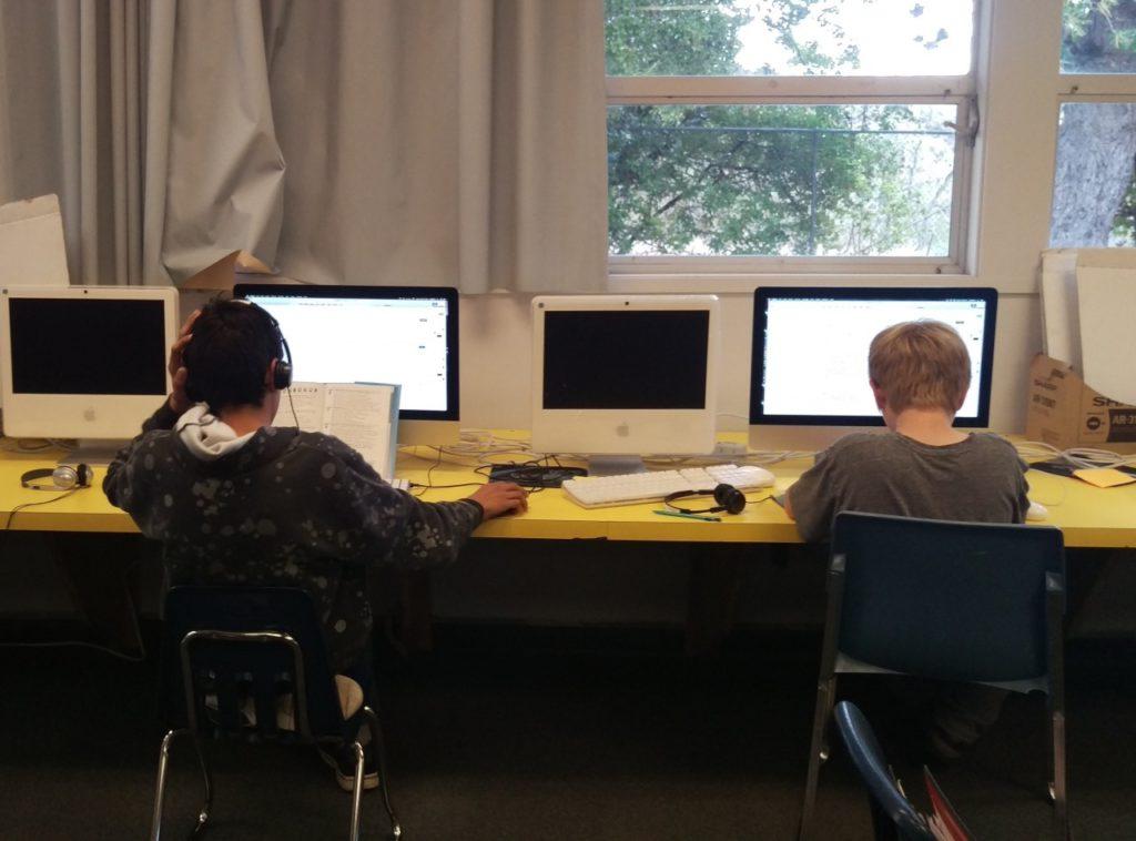 """Cienega School Principal/Teacher Nancy MacClean said, """"I'm seeing more of our curriculum through the internet"""""""
