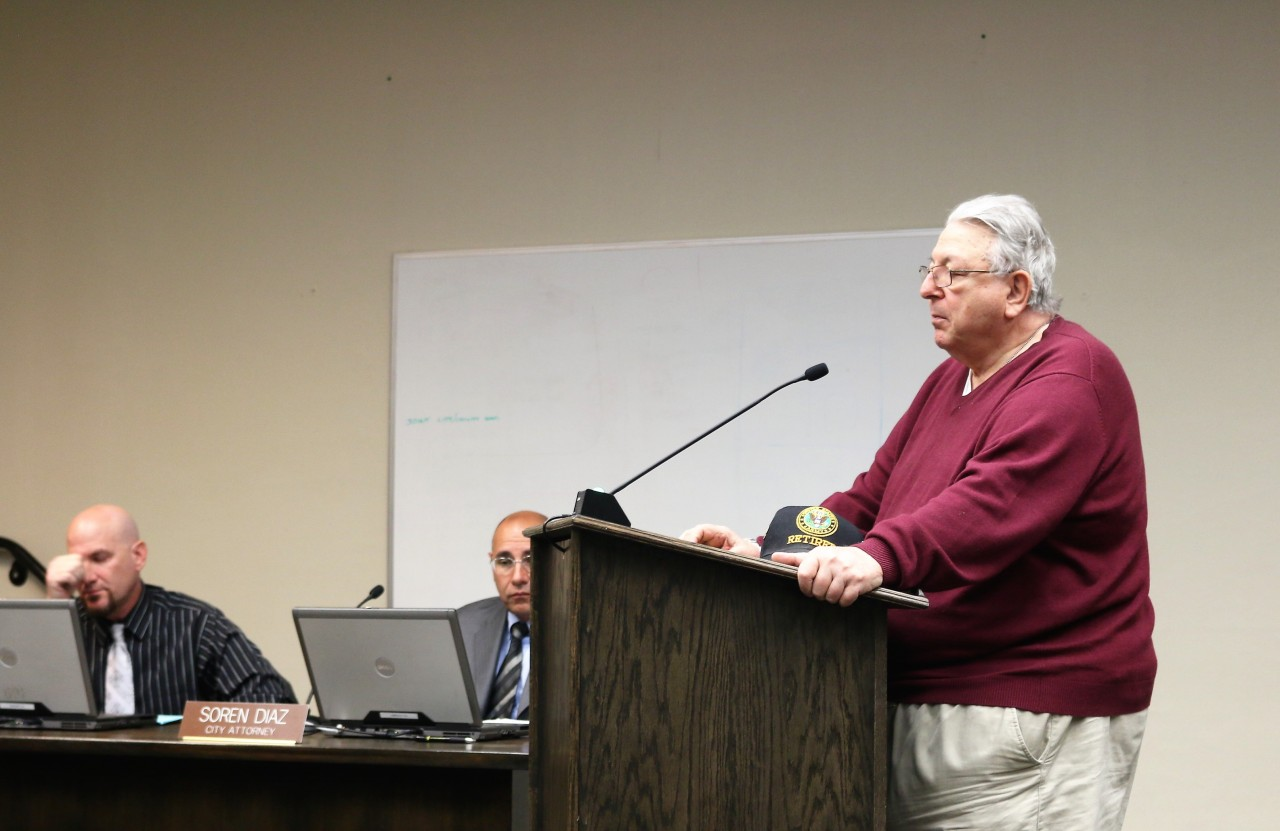 Marty Richman has brought up the issue of risk and workers' comp the last two years. Photo by John Chadwell