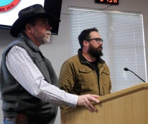 Richard, left, and Doug Burkett say cannabis could be godsend for their ranch. Photos by John Chadwell.