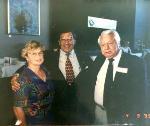 Kathy Ruiz, Leon Panetta (who was then Pres. Clinton's Chief of Staff) and Tony Ruiz in Monterey County, April 1995. Photo courtesy Kathy Ruiz