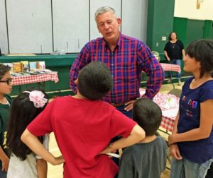 Bernosky talks to elementary school students