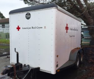 Photo of a Red Cross trailer like the one that was stolen. Photo courtesy of Red Cross