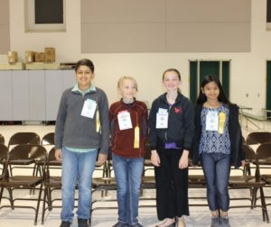 Elementary school division (Left to Right)  First: Rasmeet Brar  Second: Max Westphal  Third: Brooklynn Goldstone  Fourth: Kim Barcelos Photos by The Rotary Club of Hollister