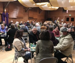 Annual Pedro Party participants playing cards at Tres Pinos Hall. Photo courtesy Cheri Holiday.