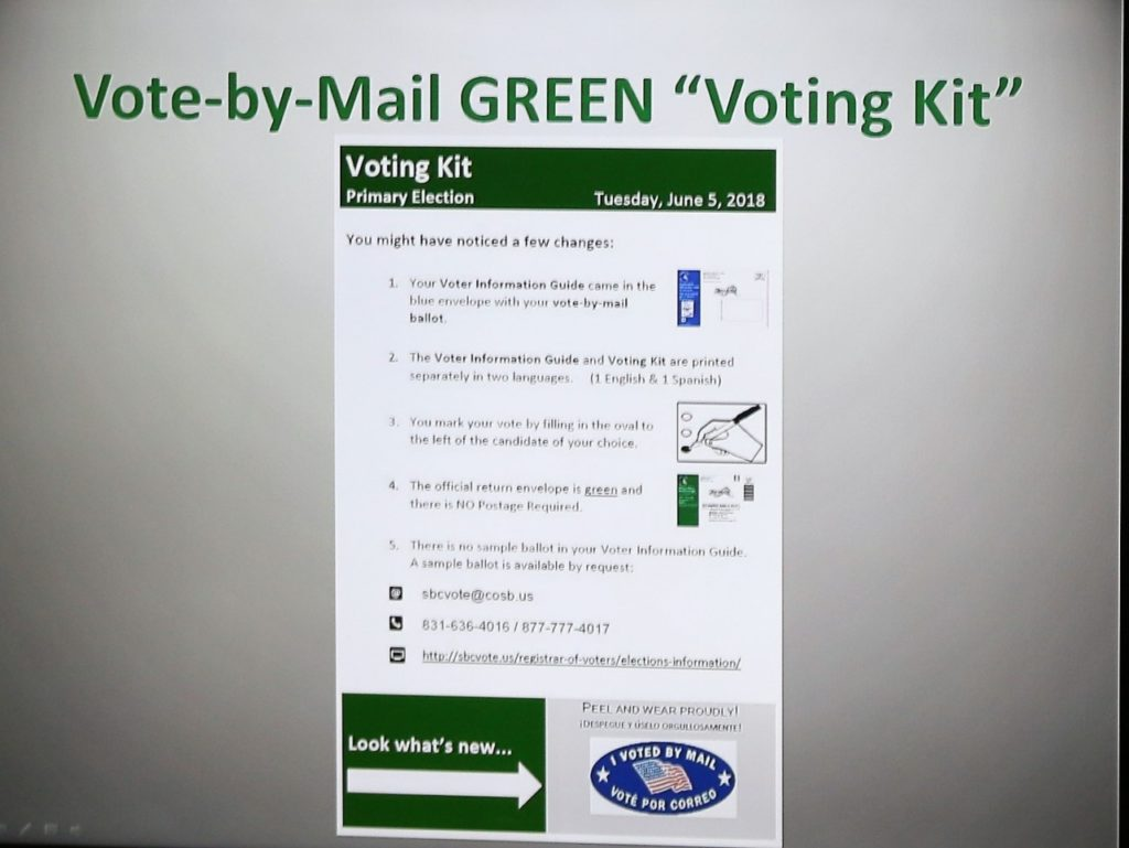 Sample Vote-By-Mail Green Voting Kit