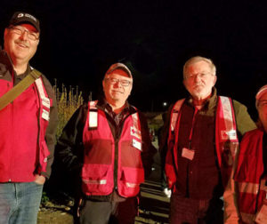 Photo of 4 Red Cross volunteers who responded.