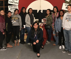 """SBHS students who attended the May 2 performance of """"La Carpa de los Rasquachis"""" at El Teatro Campesino in San Juan Bautista. Photo by Frank Perez."""
