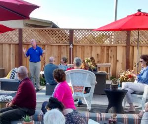 Foundation CEO Gary Byrne giving a recap of the San Benito Gives event at the Garden Shoppe. Photo submitted.