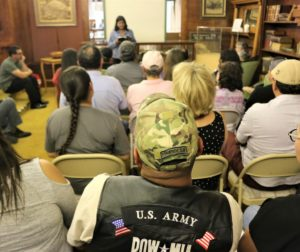 Latino veterans, families, and friends came to hear stories written by San Benito High School Students. Photos by John Chadwell.