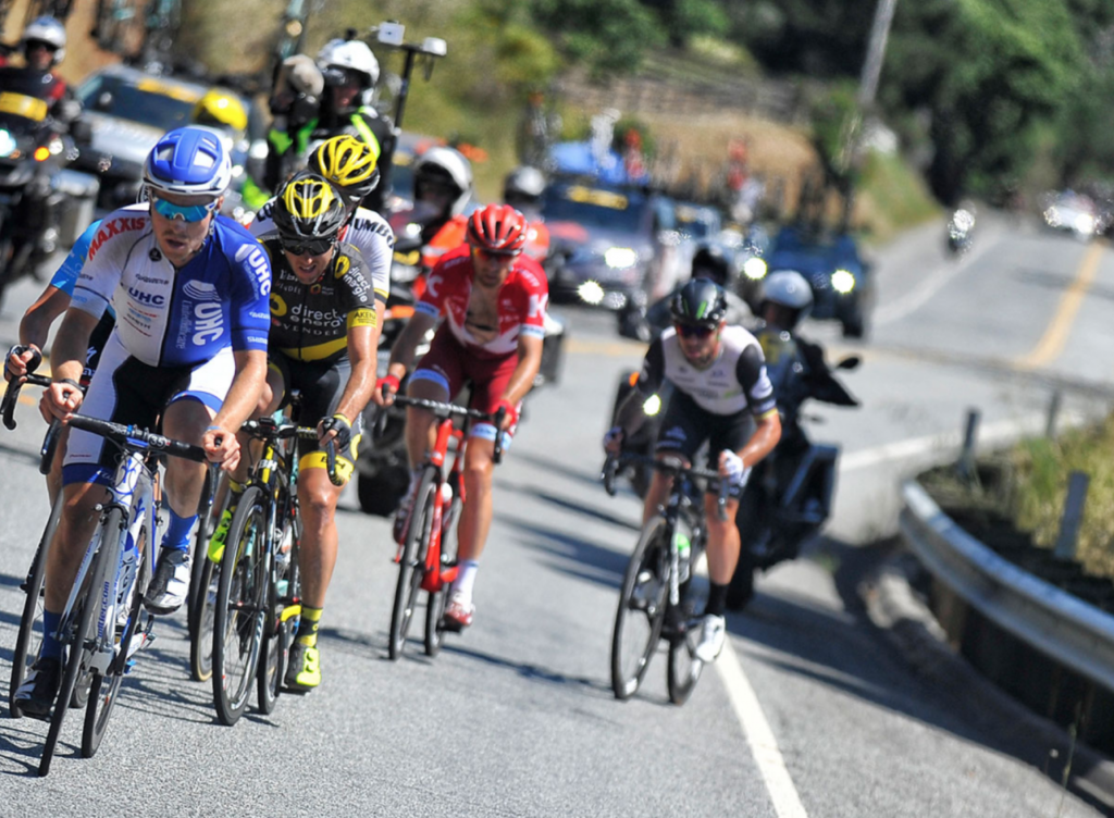 Amgen tour racers will be traveling through the southern end of San Benito County. Photo courtesy Amgen website.