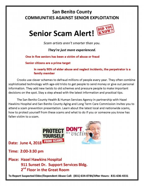 Senior Scam Alert Presentation Flyer 6-4-18.jpg