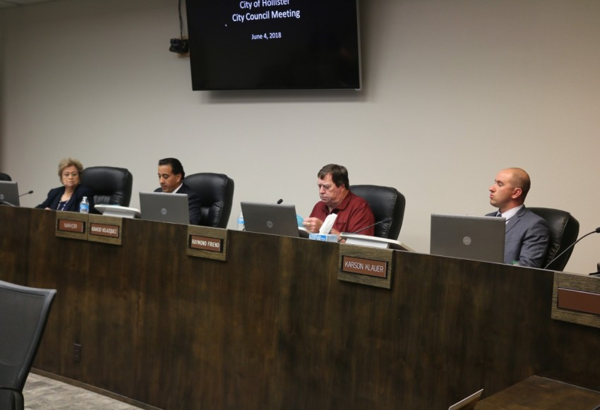 Councilman Karson Klauer recused himself and Jim Gillio was absent for the vote on the dispensary. Photo by John Chadwell.