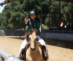 Miss San Benito Rodeo 2017, Corissa King at the 2017 San Benito County Saddle Horse Show & Rodeo. Photo courtesy Corissa King.