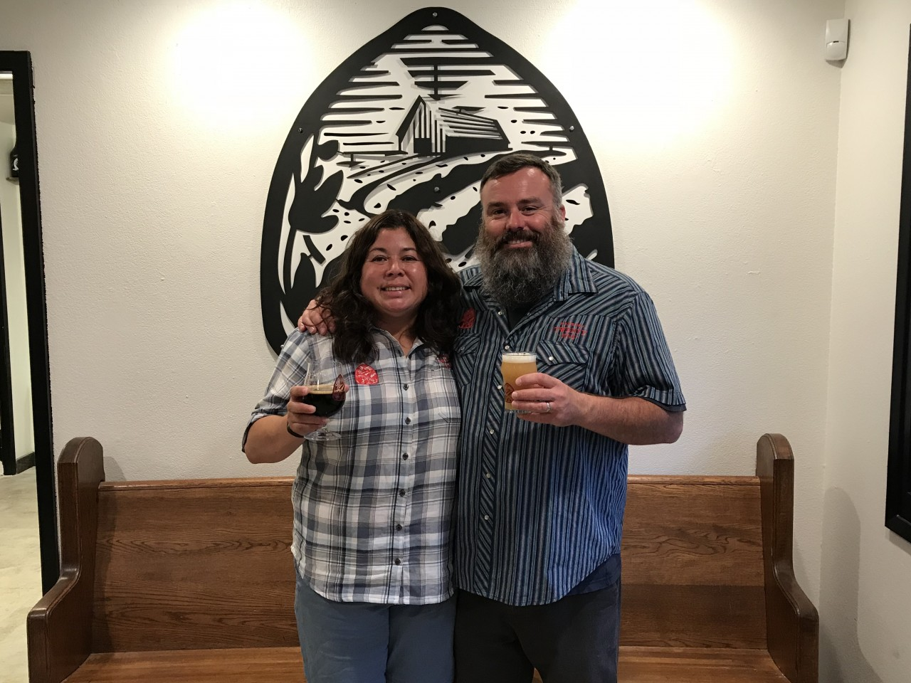 Fran and Sean Fitzharris inside the Brewery Twenty Five taproom in San Juan Bautista. Photo by Frank Perez.
