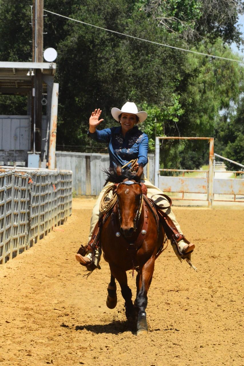 Kelsee French demonstrating her horsemanship skills. Photo courtesy Lisa Tobias.
