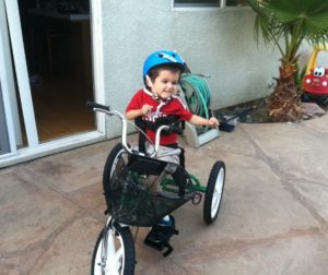 Jack Preader received his Adaptive Tricycle in 2013. Photo provided.