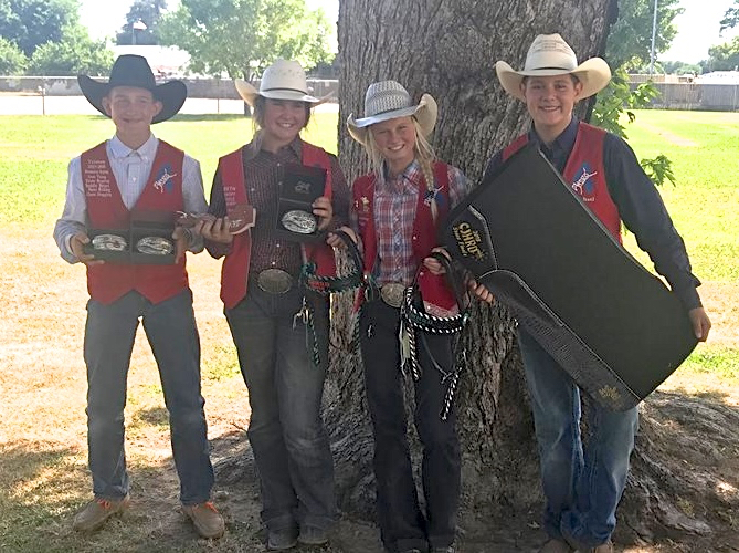 Tristan Schmidt, Beth Hitchcock, Trista Reid, and Michael Curto qualified for the NJHFR in Huron, South Dakota. Photo by Jaime Reid.