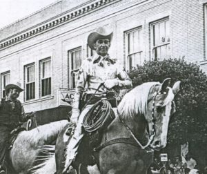 Manuel Silva rides in the lead. Photo courtesy San Benito County Historical Society.