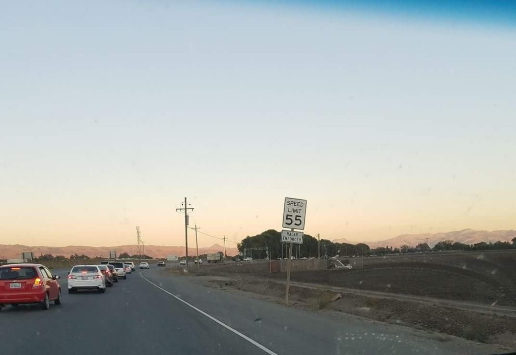Traffic on Highway 25 to Hollister. Photo provided.