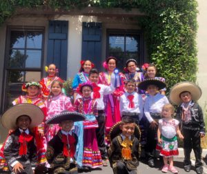 "Grupo Folklórico ""Carisma Mexicana"" outside of the Community Foundation office in Hollister. Photo by Diviana Navarro."