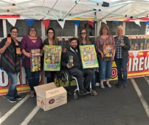 Ledesma (featured far left) volunteered for the Hollister Downtown Association's firework booth on July 3. Photo courtesy of Candace Ledesma.