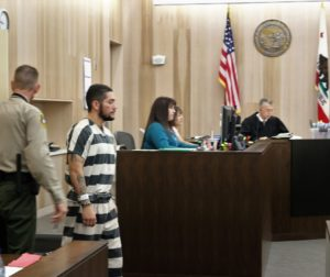 Jose Antonio Barajas told Judge Steven Sanders he could not afford an attorney. He is being held without bail. Photos by John Chadwell.