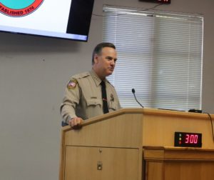 Sheriff Darren Thompson said he is anxious for the trial to be over so he can tell his side of the story. Photo by John Chadwell.