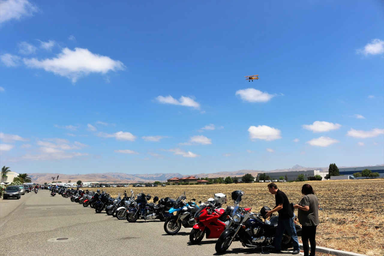 There were an estimated 5,000 motorcycle enthusiasts during the three-day event. Photo by John Chadwell.