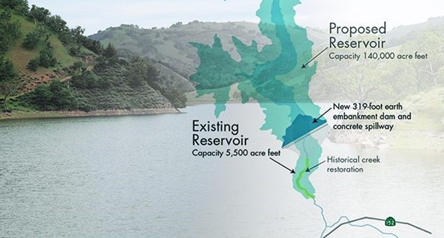 Map of Pacheco Resevoir expansion