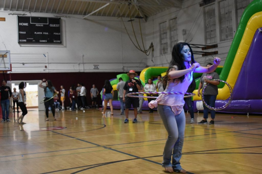 A hula hoop contest was among the fun events for seniors at Sober Grad Night. Photos courtesy of Rick Espino.