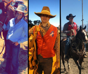 Lilla Bell, Tristan Naccarato, and Jake Bourdet qualified for the National High School Finals Rodeo in Rock Springs, Wyoming held July 15-21. Photos courtesy of Lilla Bell, Jake Bourdet, and Tristan Naccarato.