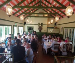 Families and members of Gabilan Chapter Kinship Center enjoying the second annual dinner at Jardines de San Juan. Photo by Kathy Tiffany.