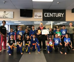Martial Arts Instructor of the Year 2018 Mark Preader with staff and students at his studio, Enterprise Academy of Martial Arts in Hollister. Photo provided.