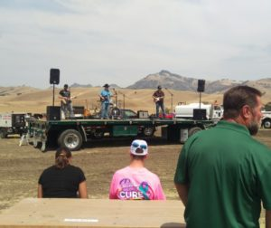 Live music could be heard before the truck pulls started. Photo by Becky Bonner.