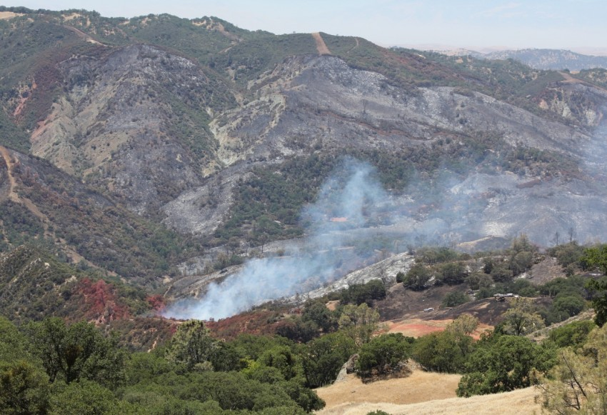 Photo of the Beaver Fire in San Benito County in Summer 2018. Photo by Noe Magaña.