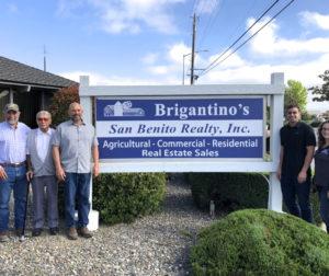 The San Benito Realty team, Dave Brigantino, Ralph Brigantino, John Brigantino, Michael Brigantino, Gianna Brigantino. Photo by Lisa Robinson
