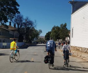 Rolling through the historical streets of San Juan Bautista. Photo provided by COG.